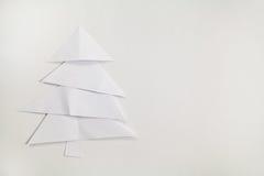 Árbol de navidad de papel Foto de archivo