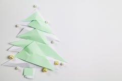 Árbol de navidad de papel Fotografía de archivo