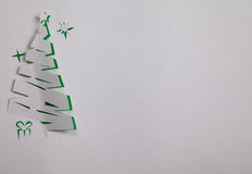 Árbol de navidad de papel Imágenes de archivo libres de regalías