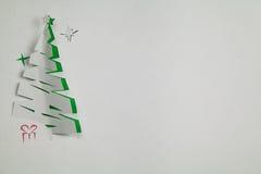 Árbol de navidad de papel Imagen de archivo