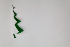 Árbol de navidad de papel Imagen de archivo libre de regalías