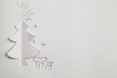 Árbol de navidad de papel Foto de archivo libre de regalías