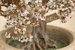 Árbol de navidad de piedras de la joyería Fotografía de archivo