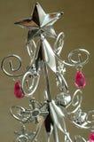 Árbol de navidad de plata Fotografía de archivo libre de regalías
