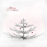 Árbol de navidad de plata realista en el fondo sensual libre illustration