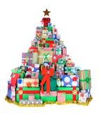Árbol de navidad de presentes Imagen de archivo