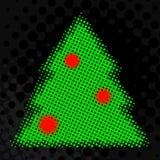 Árbol de navidad de semitono Stock de ilustración