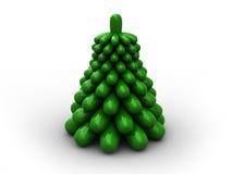 Árbol de navidad de Stilized Fotos de archivo libres de regalías