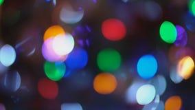 Árbol de navidad de Defocusing metrajes