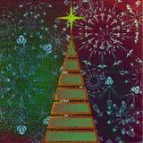 Árbol de navidad del arte stock de ilustración