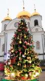 Árbol de navidad del arte Imagenes de archivo