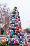 Árbol de navidad del arte Foto de archivo libre de regalías