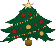 Árbol de navidad del arte popular Fotos de archivo