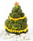 Árbol de navidad del bróculi Fotografía de archivo libre de regalías