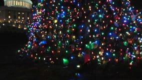Árbol de navidad del capitolio de los E.E.U.U. metrajes