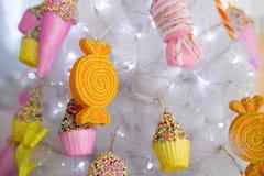 Árbol de navidad del caramelo Fotos de archivo libres de regalías