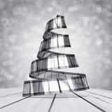 Árbol de navidad del celuloide Fotografía de archivo libre de regalías