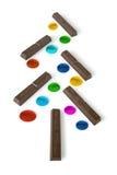 Árbol de navidad del chocolate Foto de archivo libre de regalías