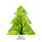 Árbol de navidad del color ilustración del vector