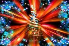 árbol de navidad del color Imagen de archivo libre de regalías
