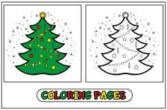 Árbol de navidad del colorante Stock de ilustración
