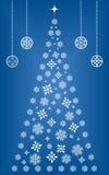 Árbol de navidad del copo de nieve Imágenes de archivo libres de regalías
