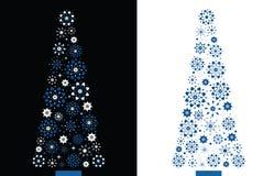 Árbol de navidad del copo de nieve de la dimensión de una variable de Dimond stock de ilustración