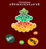 Árbol de navidad del descuento Fotos de archivo libres de regalías