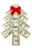 Árbol de navidad del dinero Fotos de archivo libres de regalías