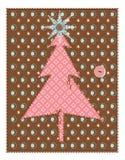 Árbol de navidad del edredón Imagen de archivo libre de regalías