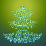 Árbol de navidad del ejemplo del vector Imagen de archivo libre de regalías
