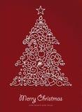 Árbol de Navidad del esquema de la Feliz Año Nuevo de la Feliz Navidad Imagen de archivo libre de regalías