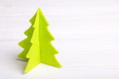Árbol de navidad del fieltro Foto de archivo libre de regalías