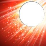 Árbol de navidad del fondo ligero del vector Fotografía de archivo