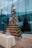 Árbol de navidad 2012 del lugar de Hyatt de la estrella de LONGHU Fotografía de archivo libre de regalías
