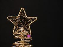 Árbol de navidad del oro Imagen de archivo libre de regalías