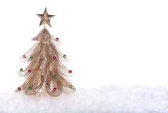 Árbol de navidad del oro Fotografía de archivo libre de regalías