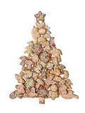 Árbol de Navidad del pan de jengibre Fotografía de archivo