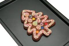 Árbol de navidad del pan de jengibre Fotografía de archivo libre de regalías