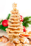 Árbol de navidad del pan de jengibre. Imágenes de archivo libres de regalías