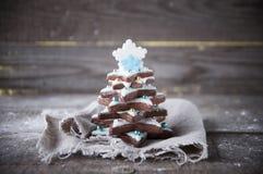 Árbol de navidad del pan de jengibre Imagenes de archivo