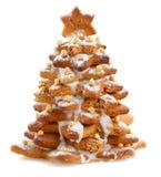 Árbol de navidad del pan de jengibre Imagen de archivo libre de regalías