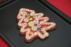 Árbol de navidad del pan del jengibre Imagen de archivo