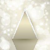 Árbol de navidad del triángulo Imágenes de archivo libres de regalías