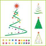 Árbol de navidad del vector Foto de archivo