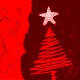 Árbol de navidad del vector Fotografía de archivo libre de regalías