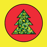 Árbol de navidad del vector Imagen de archivo libre de regalías