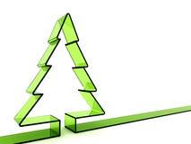 árbol de navidad del vidrio verde 3D Imagen de archivo libre de regalías