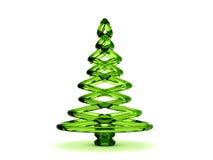 árbol de navidad del vidrio verde 3D Fotografía de archivo