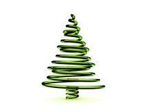 árbol de navidad del vidrio verde 3D Imagenes de archivo